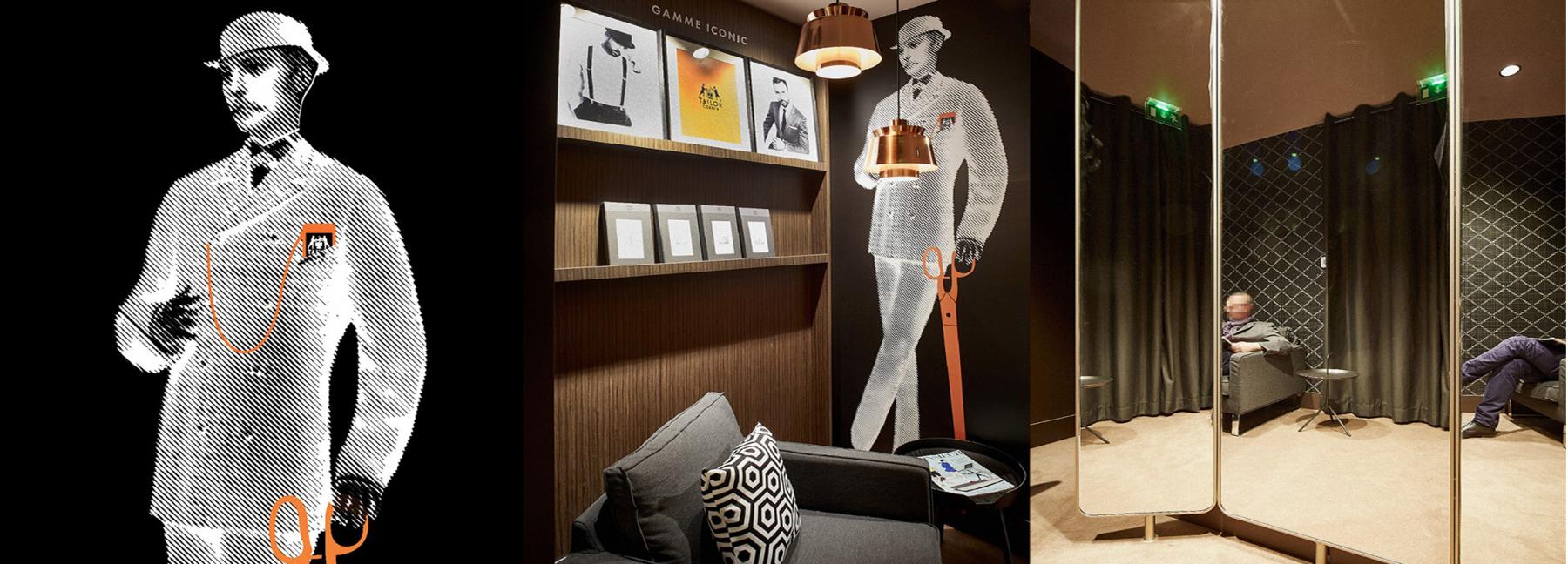 Concept connected store  Tailor Corner costume et chemise sur mesure