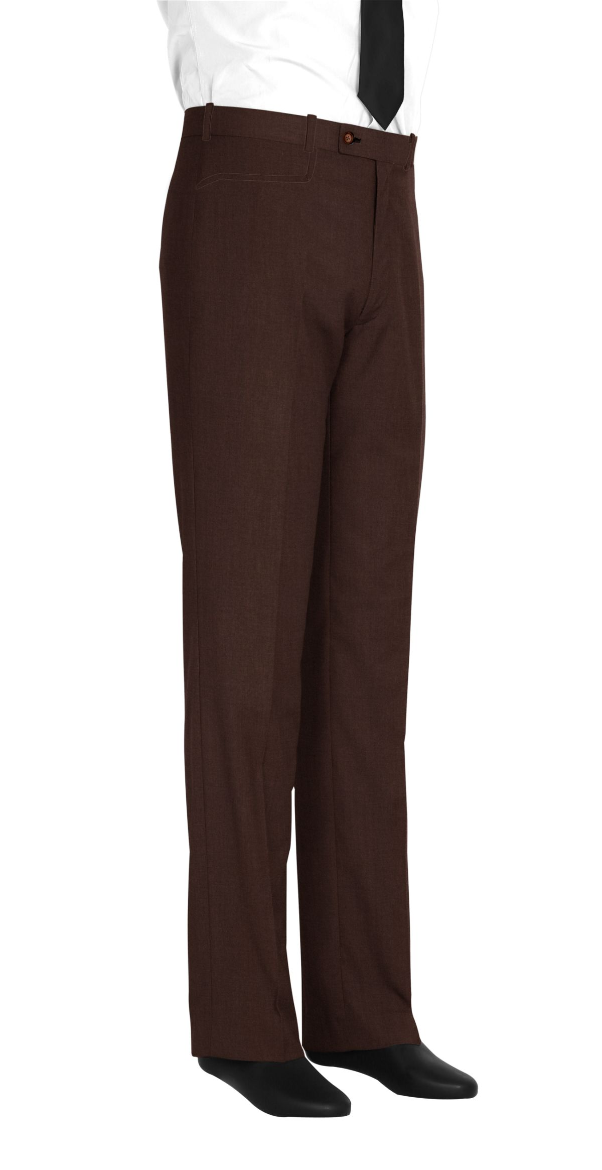 Pantalon marron uni