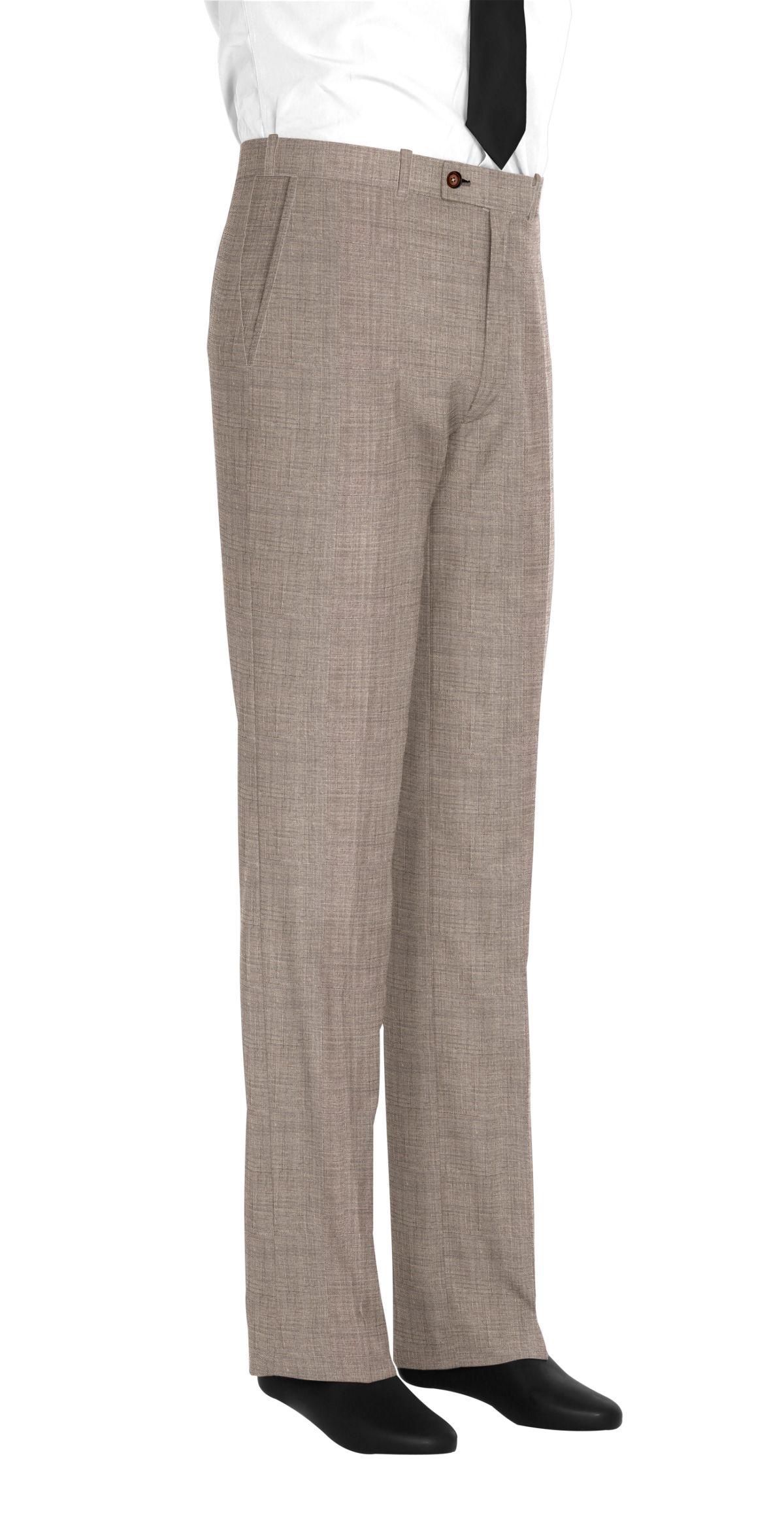 Pantalon beige fil à fil