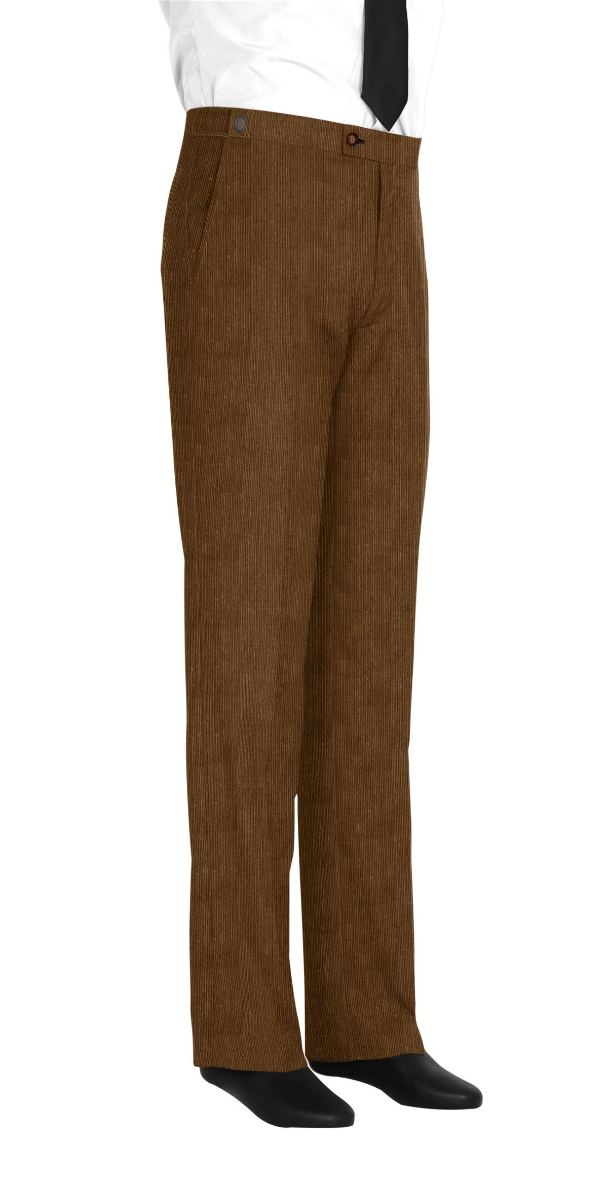Pantalon marron velours côtelé