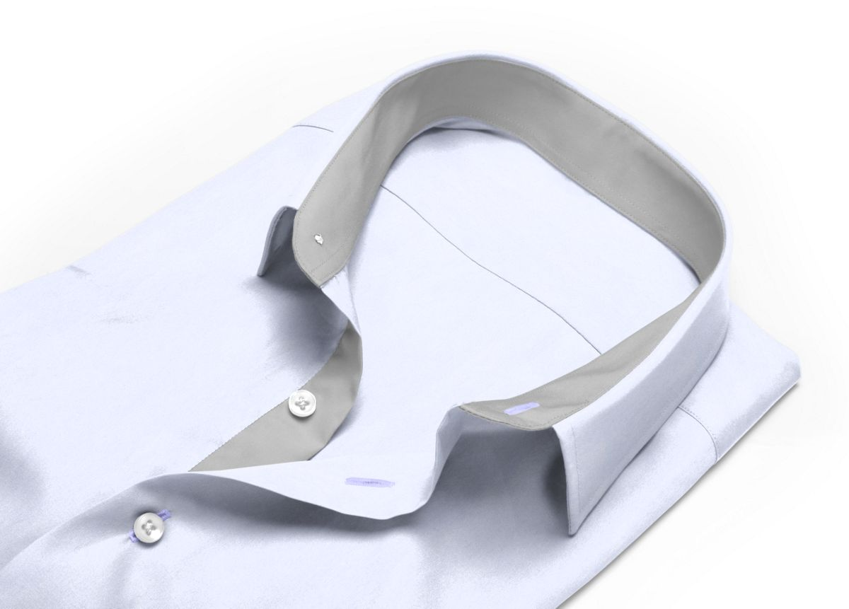 Chemise Col boutonné Blanc popeline
