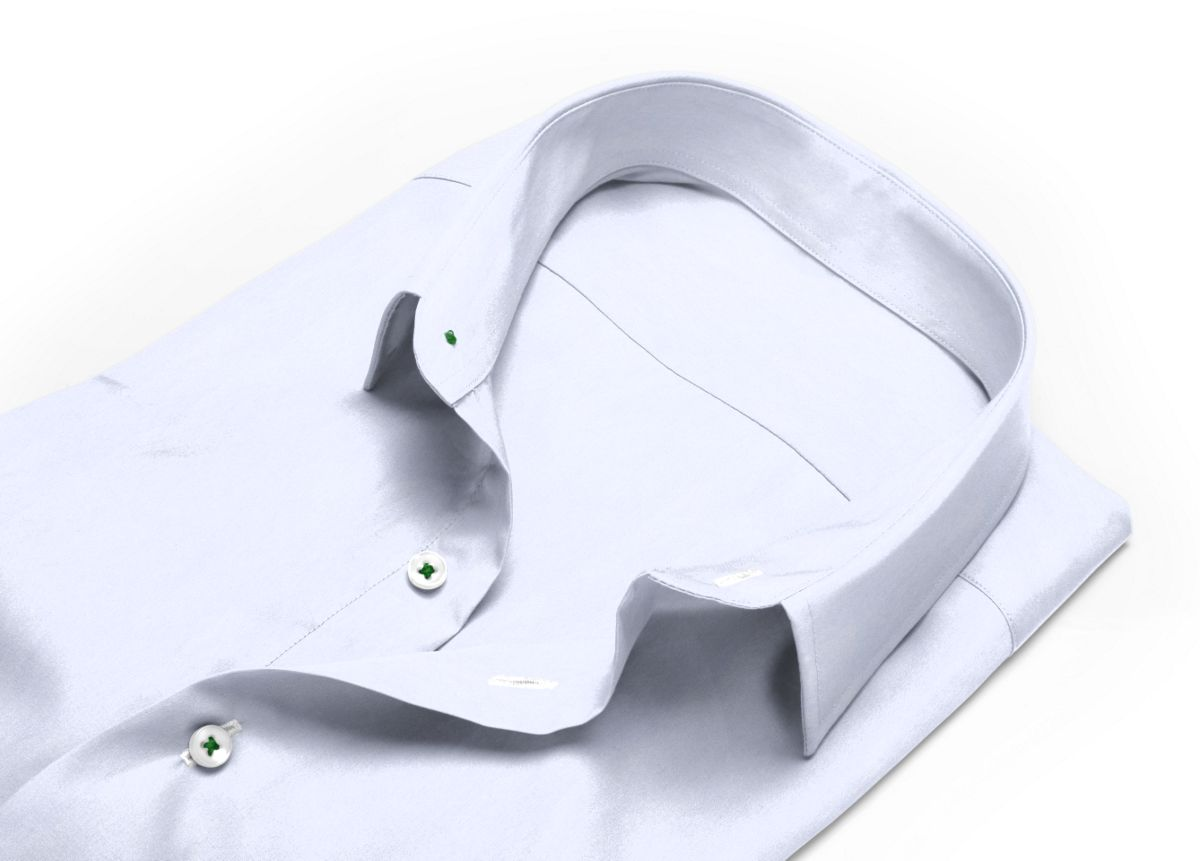 Chemise Grand col classique Blanc popeline
