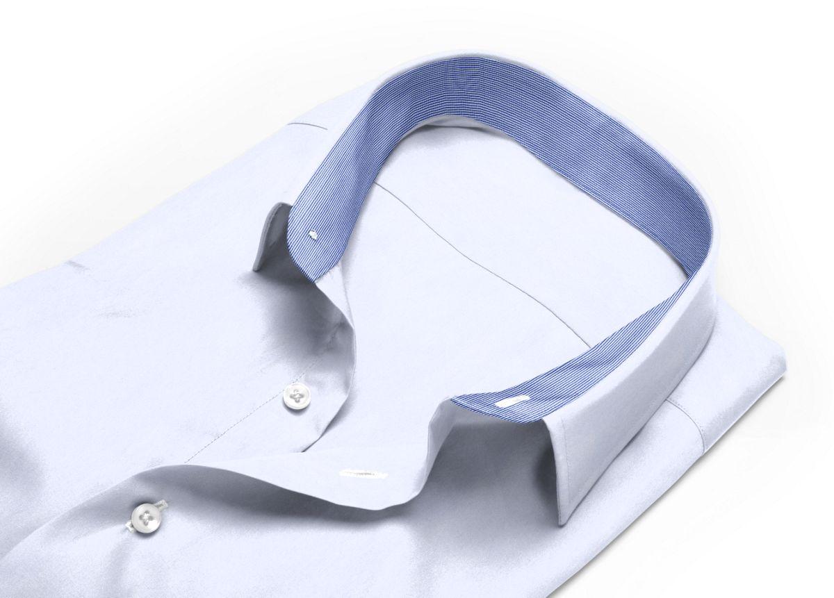 Chemise mini col boutonné Blanc popeline