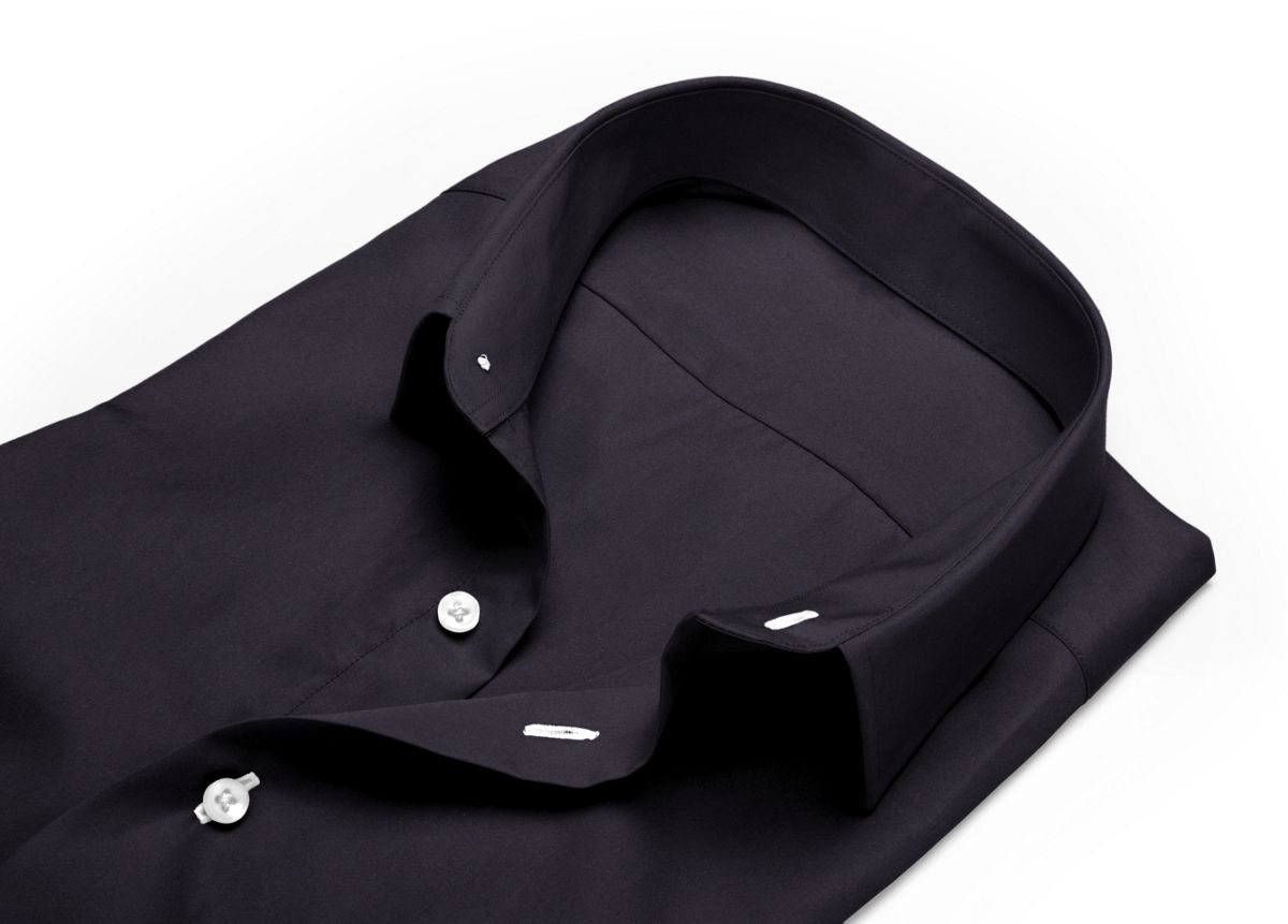 Chemise col aldo noir popeline