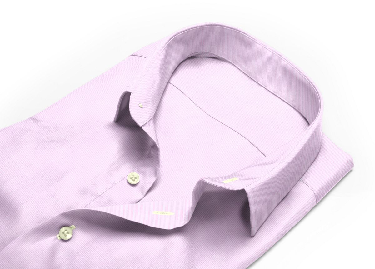 Chemise Petit col classique rose, Blanc popeline
