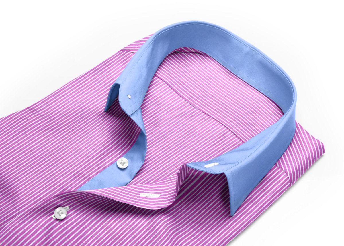 chemise rose et bleue