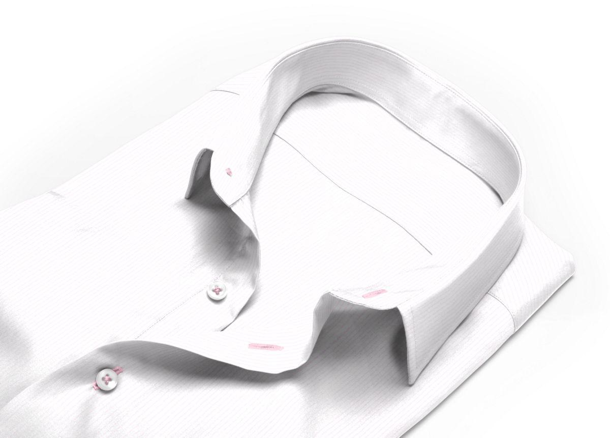 Chemise Col classique rose, Blanc popeline