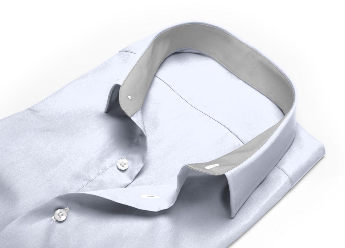 Chemise homme sur mesure petit col classique blanc uni