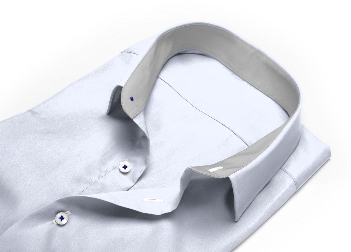Chemise homme sur mesure col boutonné blanc uni