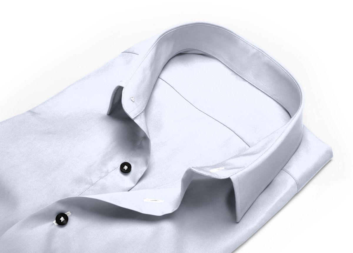 Chemise homme sur mesure col inversé blanc uni