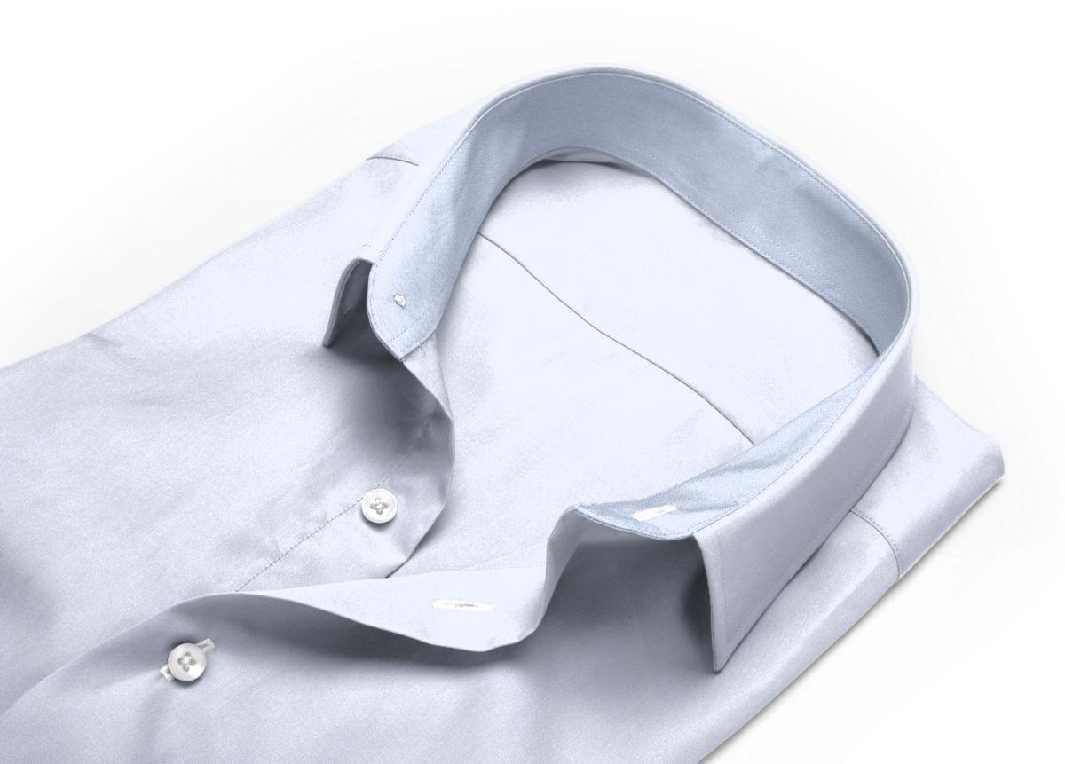 Chemise homme sur mesure mini col blanc uni