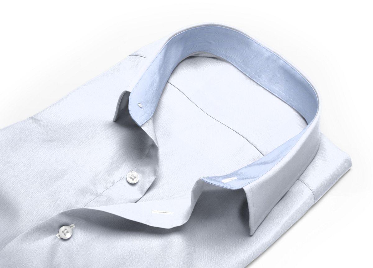 Chemise homme sur mesure col classique blanc uni
