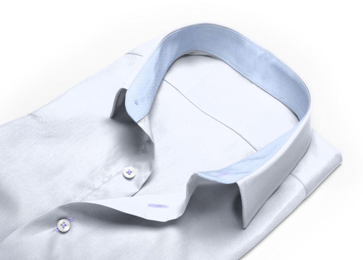 Chemise homme sur mesure col italien blanc uni