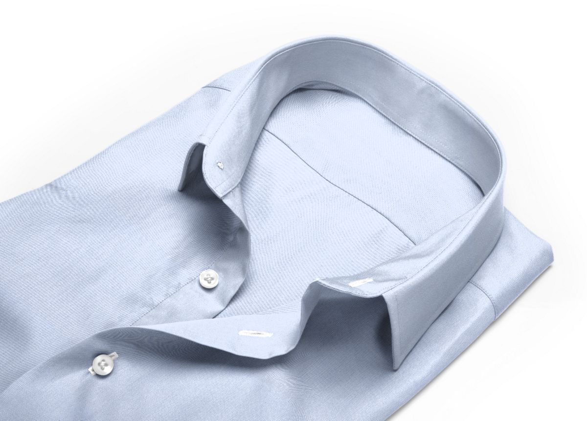 Chemise Petit col classique bleu ciel, bleu twill