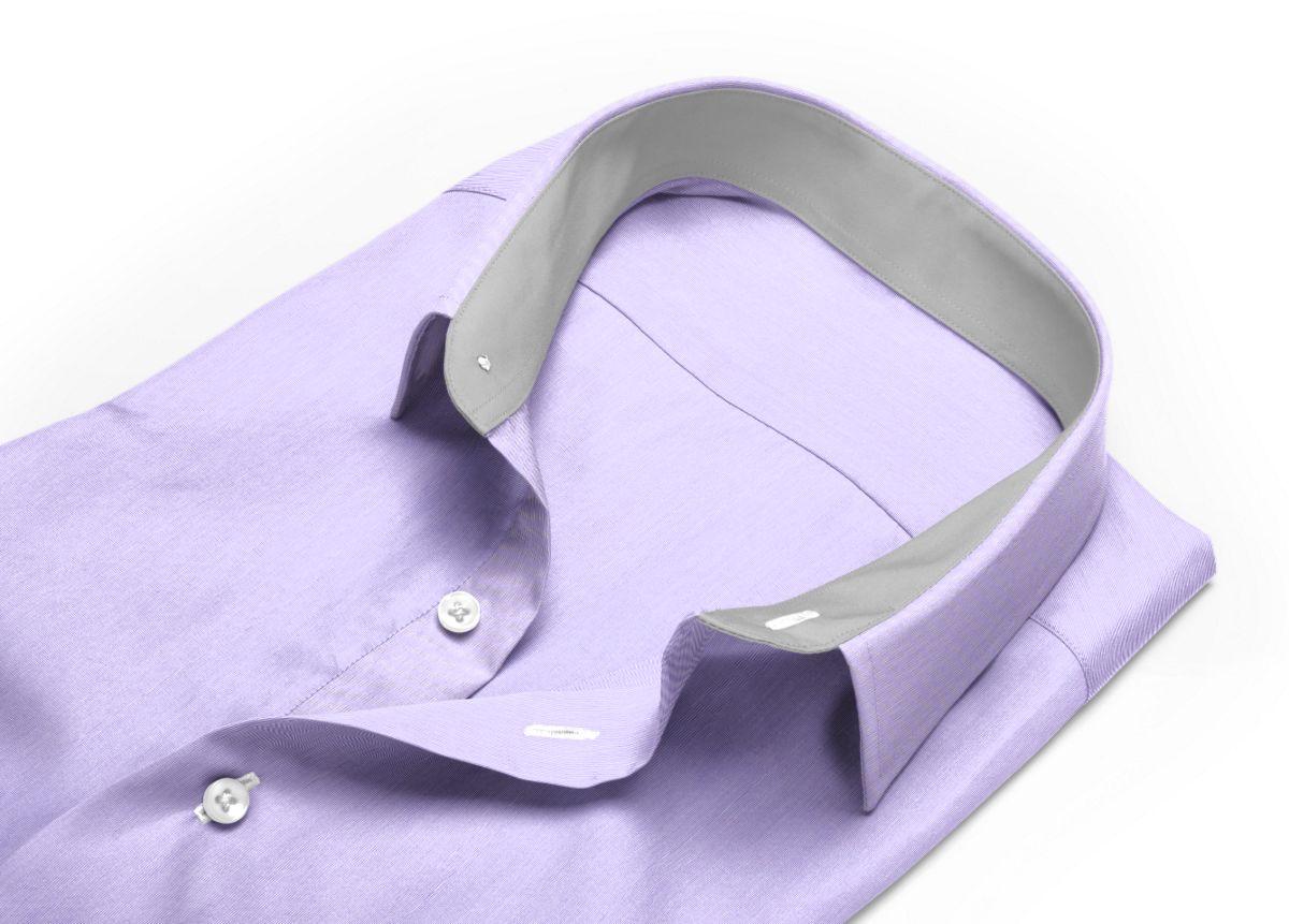 Chemise Petit col classique violet fil à fil
