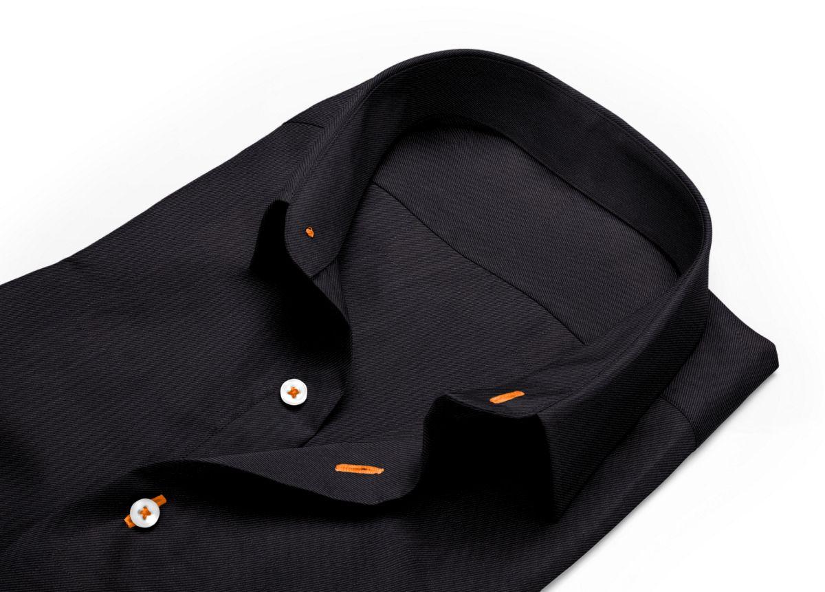Chemise Col classique noir twill