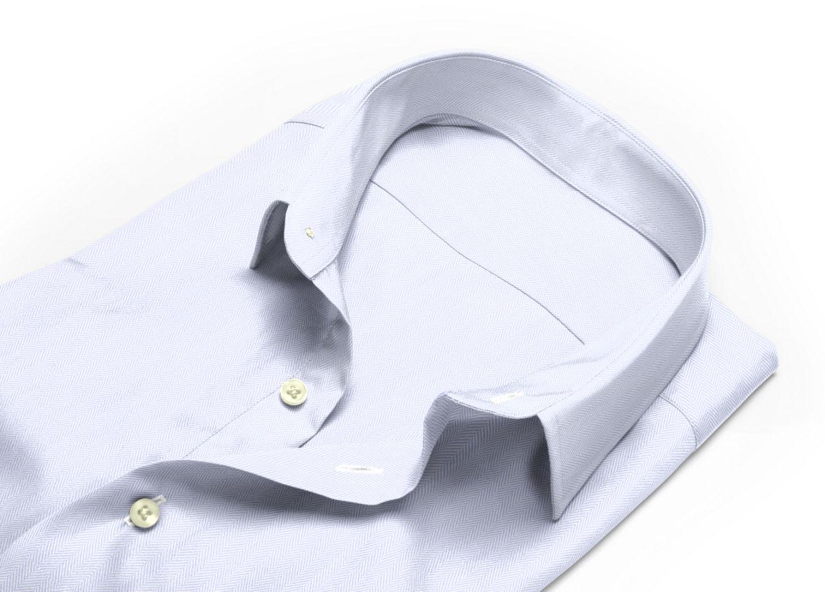 Chemise homme sur mesure col italien ouvert blanc uni