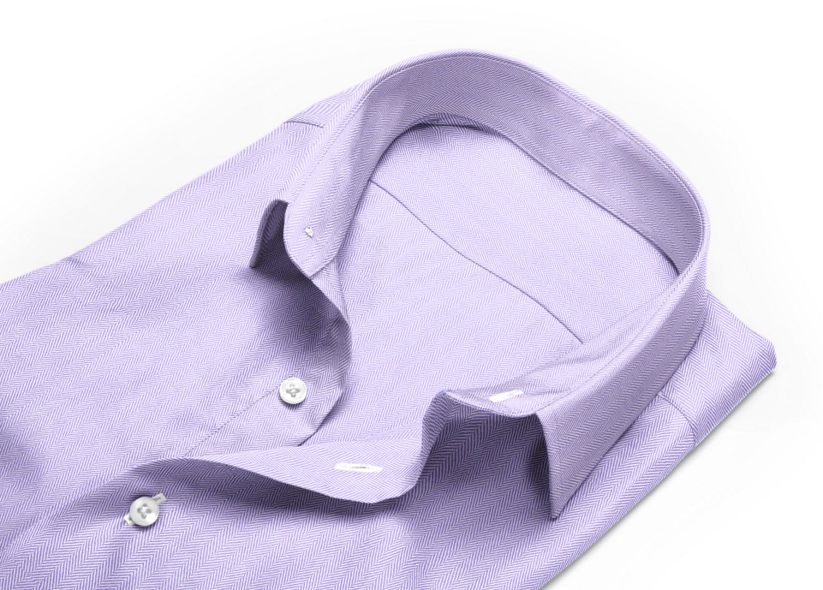 Chemise col aldo violet, violet clair chevrons