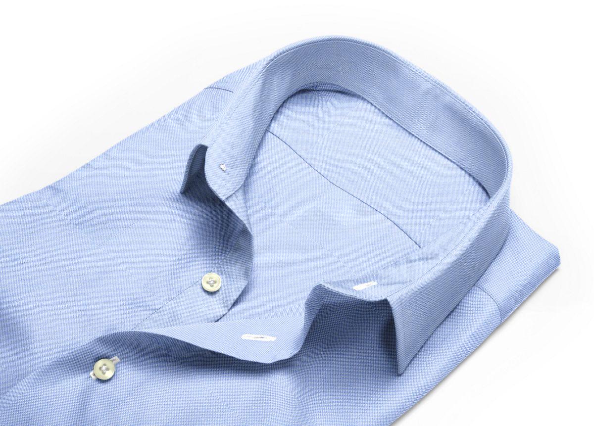 Chemise Col classique bleu, bleu ciel royal oxford