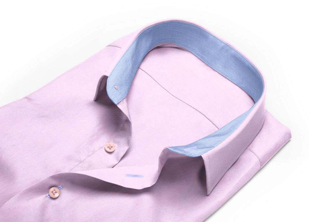 Chemise Col boutonné rose royal oxford