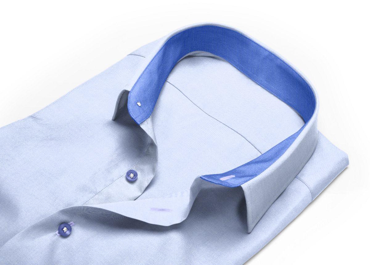 Chemise Col classique bleu, bleu ciel oxford