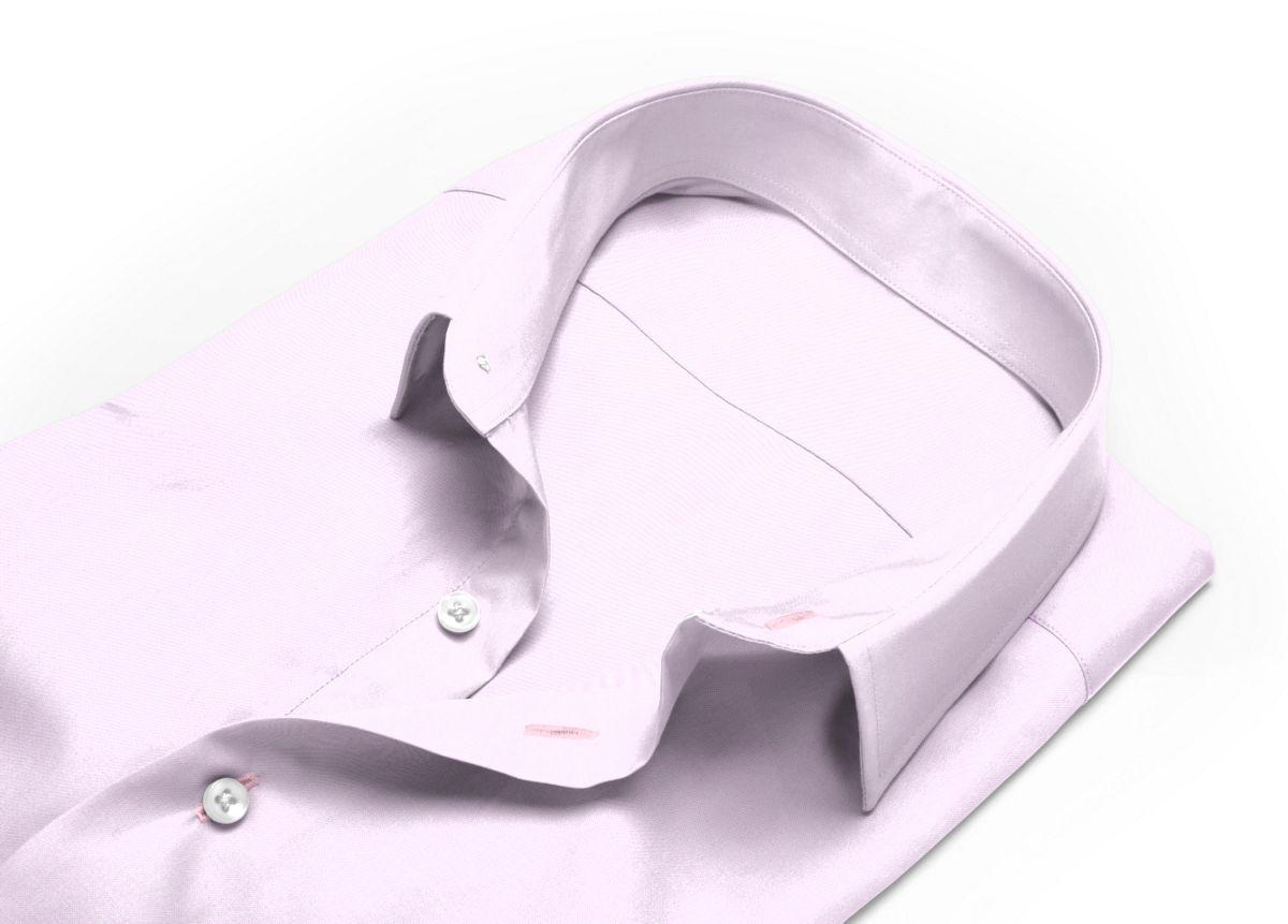 Chemise Petit col classique rose oxford