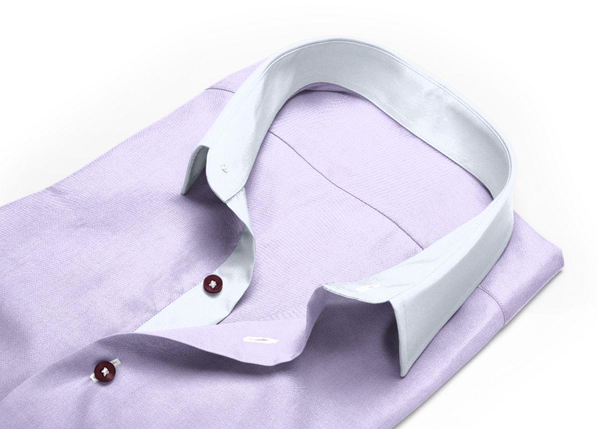 Chemise Col boutonné violet, violet clair oxford