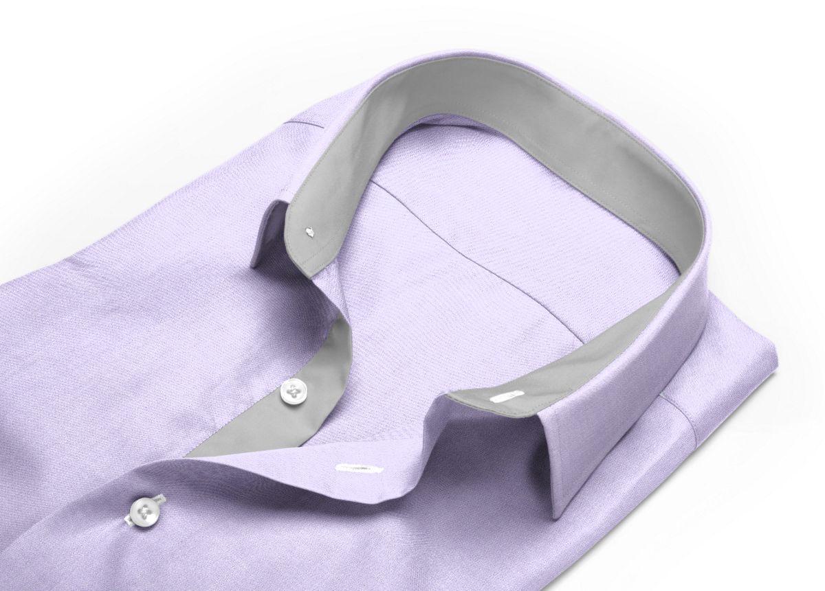 Chemise Petit col classique violet, violet clair oxford