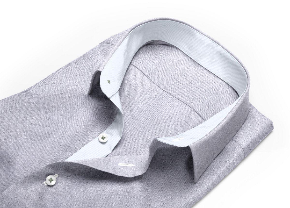 Chemise Petit col classique gris oxford