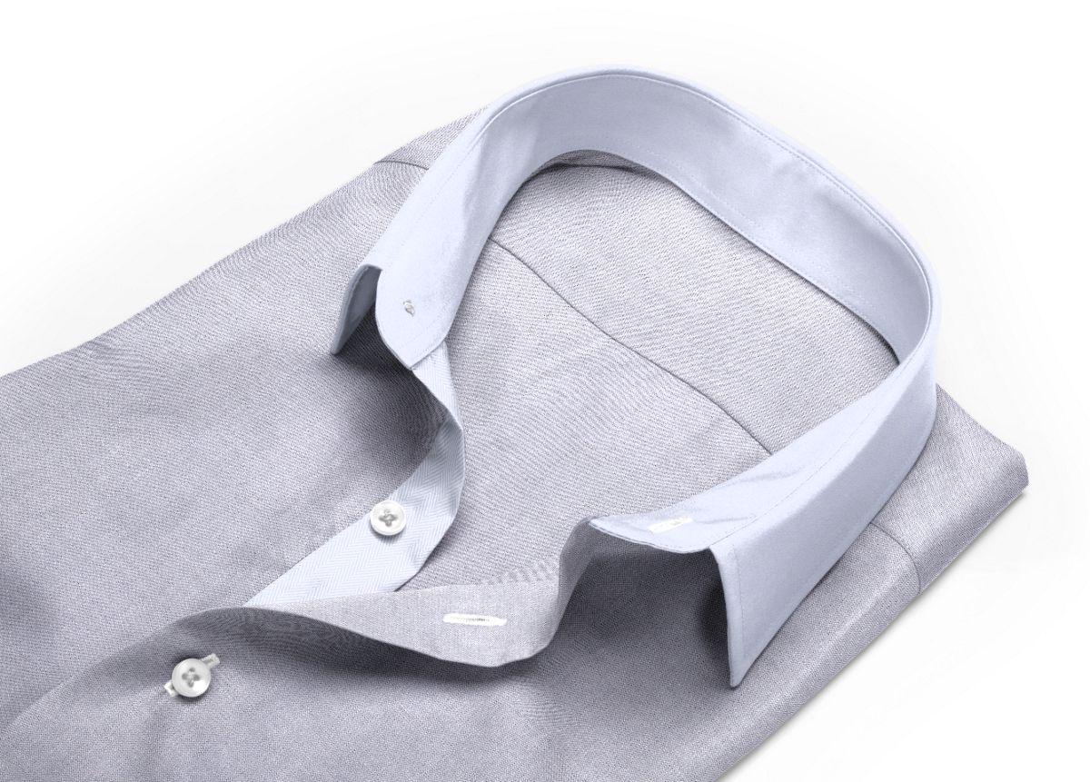 Chemise Col boutonné gris oxford