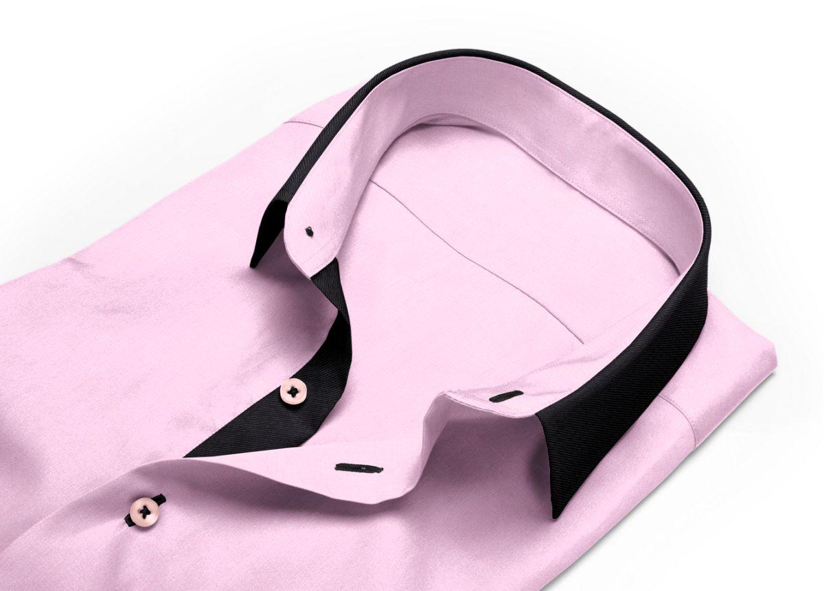 Chemise Col boutonné rose fil à fil