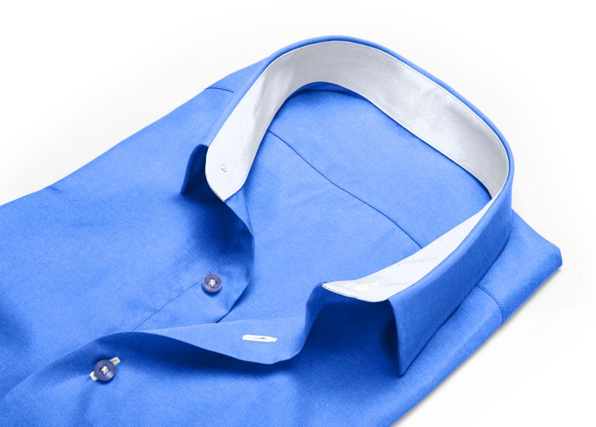 Chemise Petit col classique bleu oxford