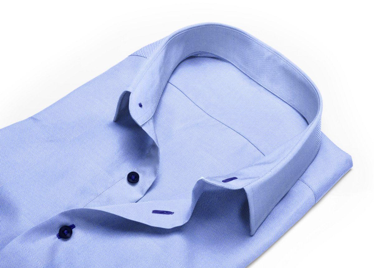 Chemise Petit col classique bleu, bleu foncé twill