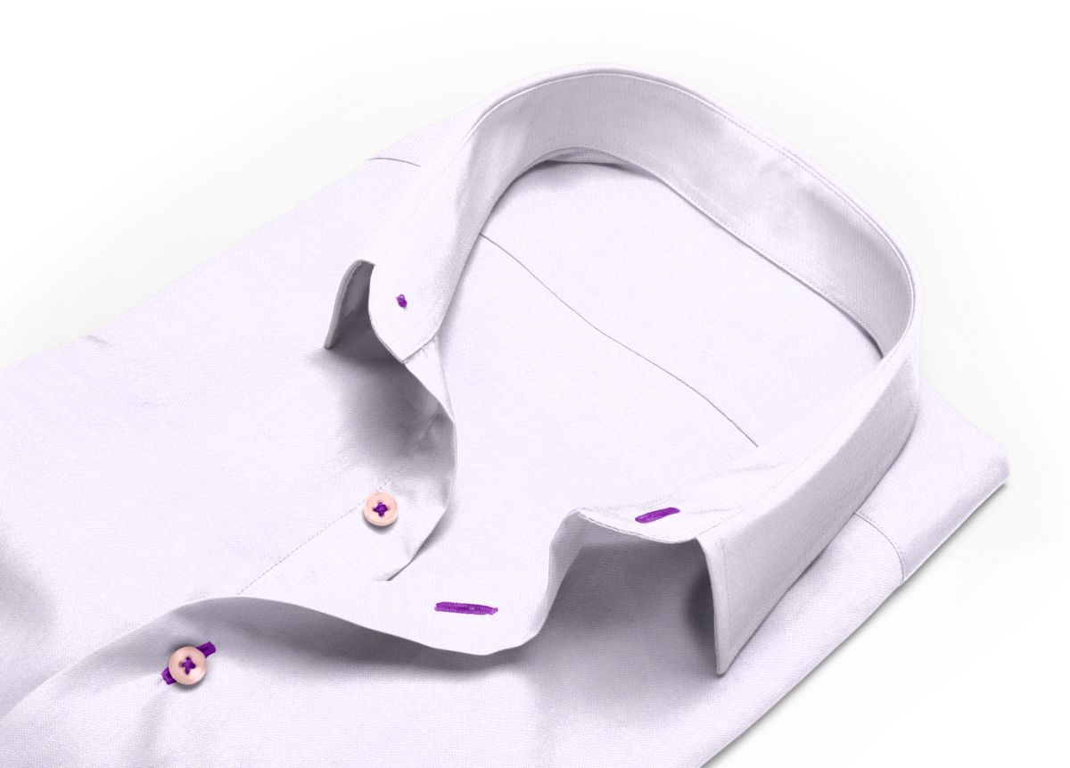 Chemise Petit col classique violet royal oxford