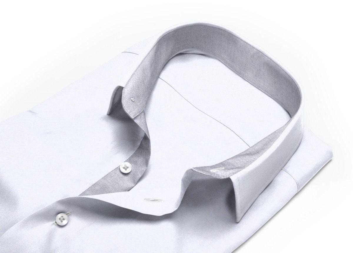Chemise mini col boutonné gris, gris clair royal oxford