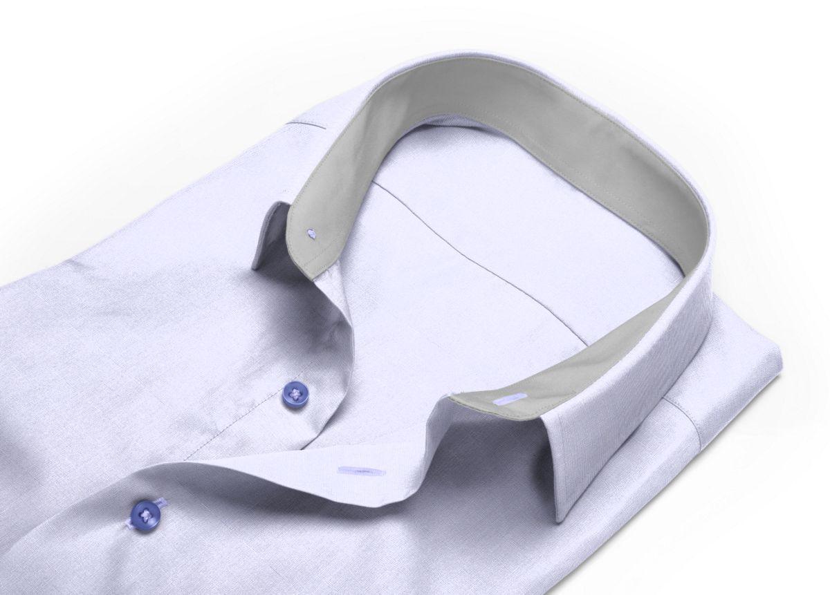 Chemise Petit col classique gris fil à fil