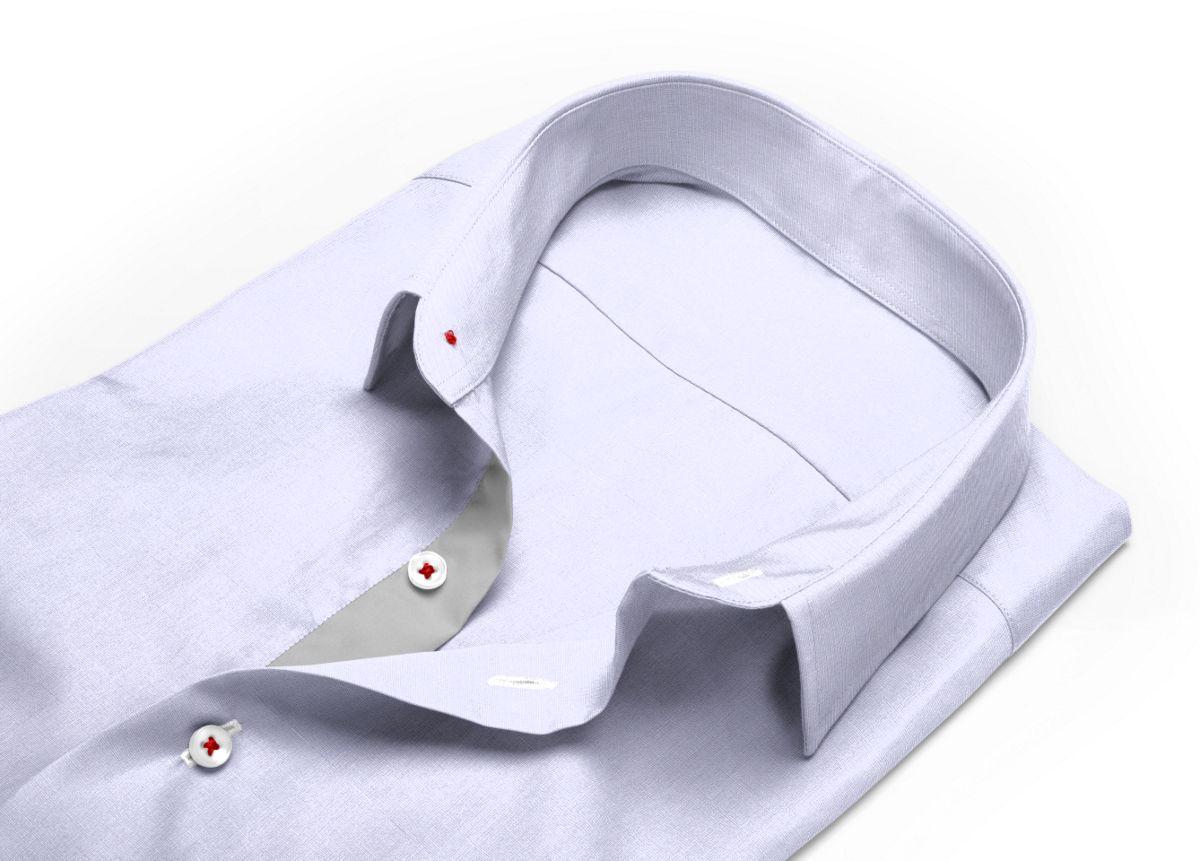 Chemise Col classique gris fil à fil