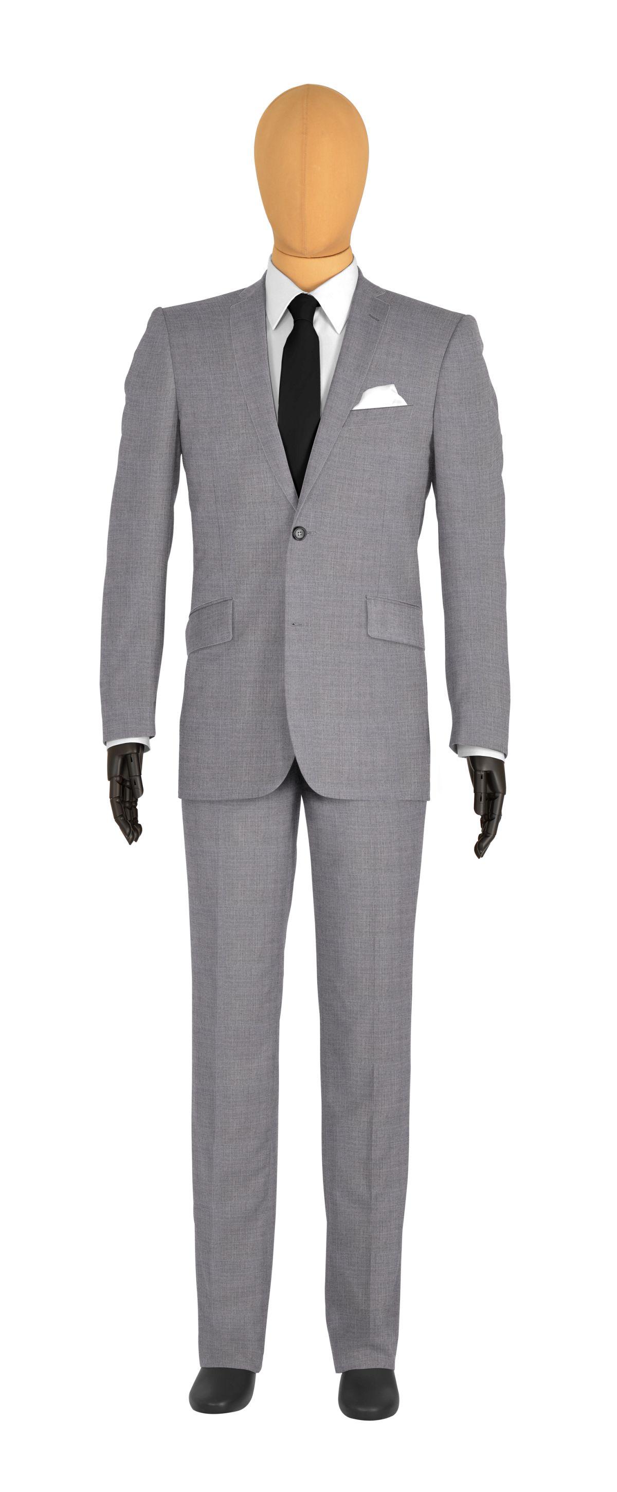 Costume sur mesure gris uni tailor corner - Costume homme gris clair ...