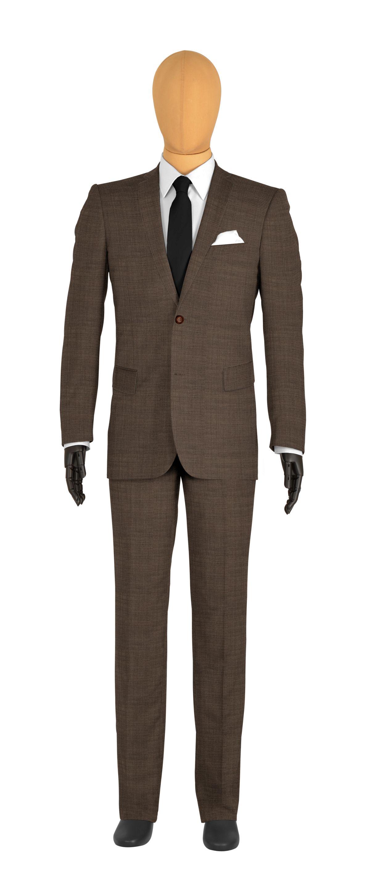 veste 2 boutons sur mesure pour homme beige uni