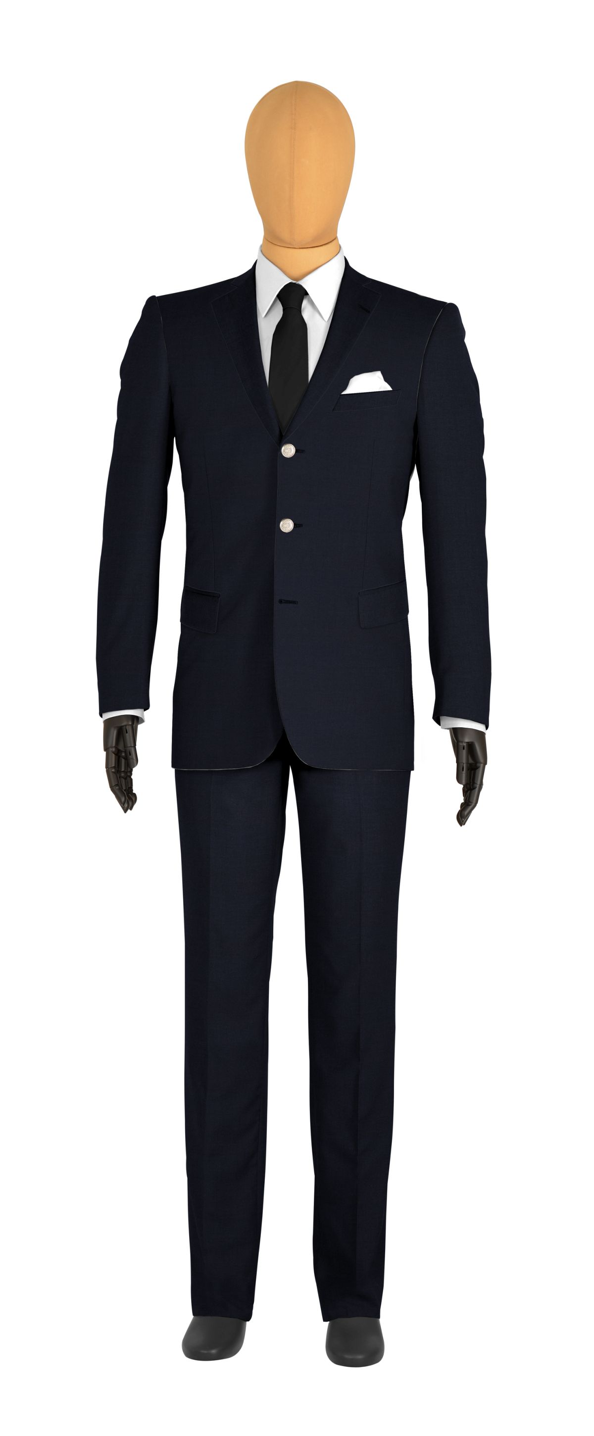 veste 3 boutons sur mesure pour homme bleu uni