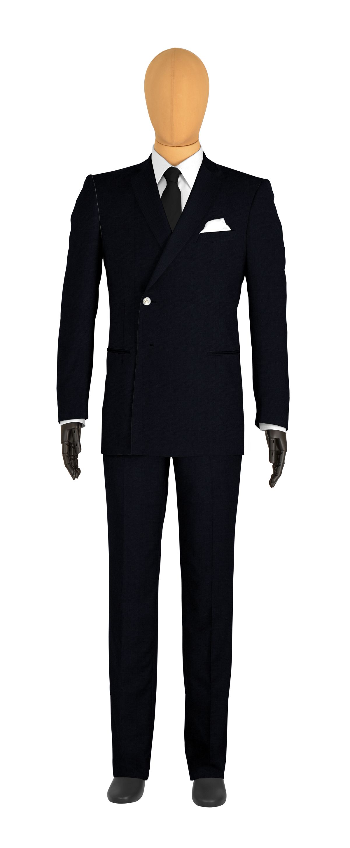 veste croisée sur mesure pour homme bleu uni