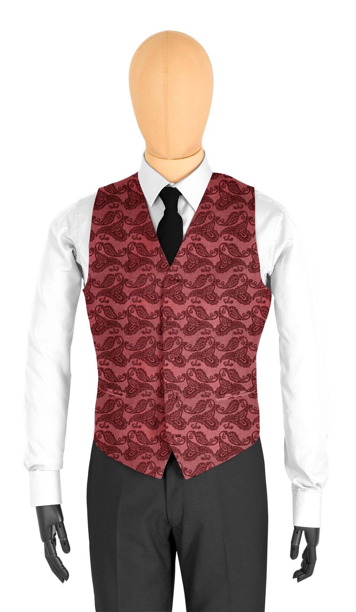 gilet de costume rouge motifs tailor corner. Black Bedroom Furniture Sets. Home Design Ideas