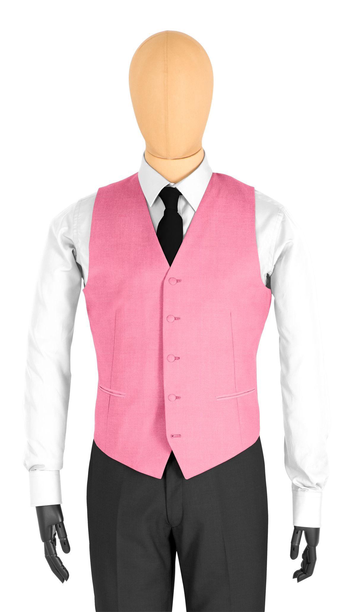 Gilet coupe 5 boutons rose