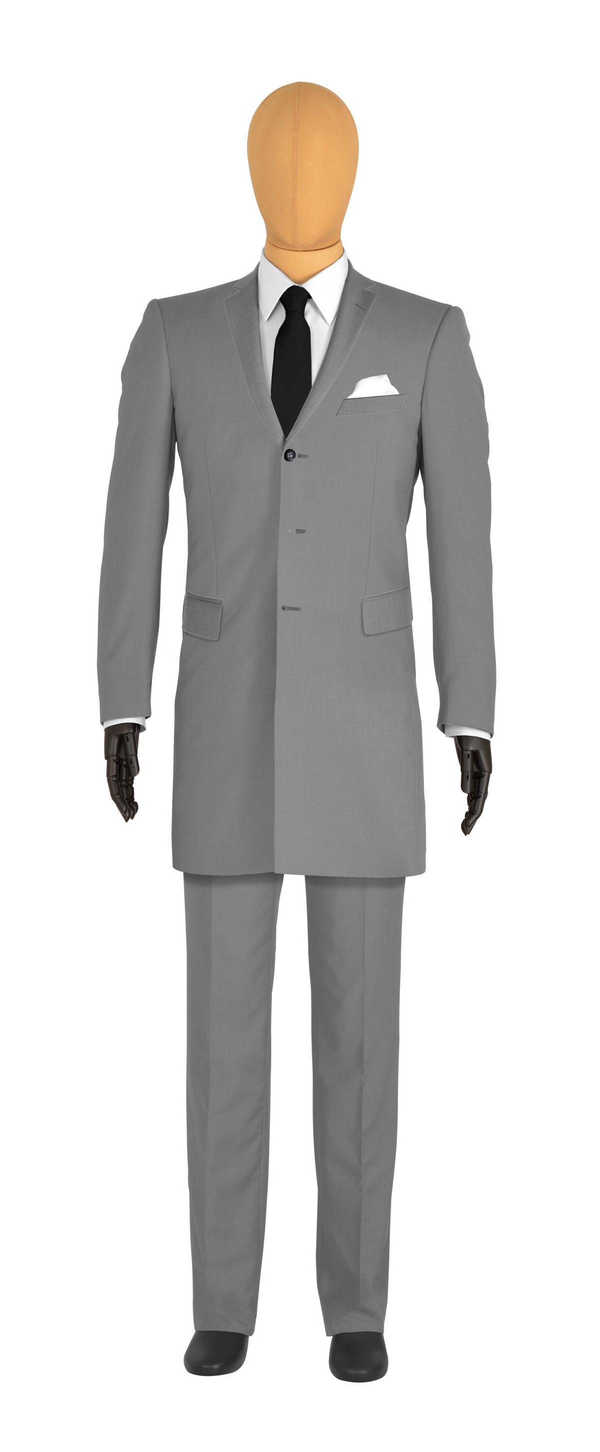 Costume redingote gris anthracite Dormeuil
