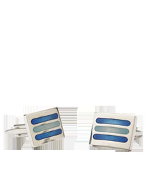 rectangulaires en métal rayé bleu