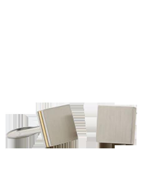 carrés en or et rhodium brossé