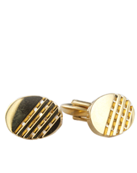 ovales en or plaqué, à motifs