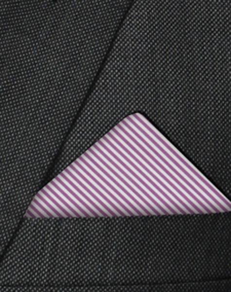Pochette blanche et violette