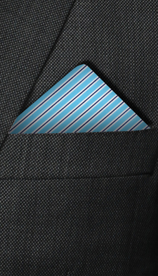 Pochette bleu turquoise