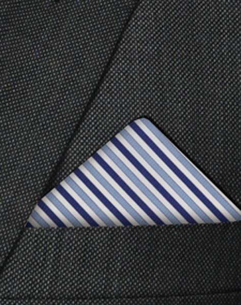 Pochette rayée bleue